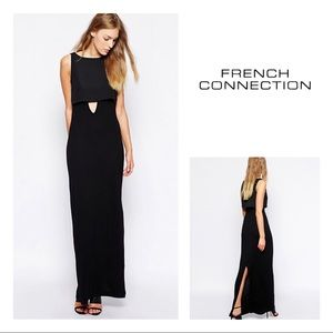 French Connection Midas Maxi Dress with Keyhole